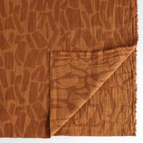 Textured Cotton Viscose Jacquard - Toffee | Blackbird Fabrics