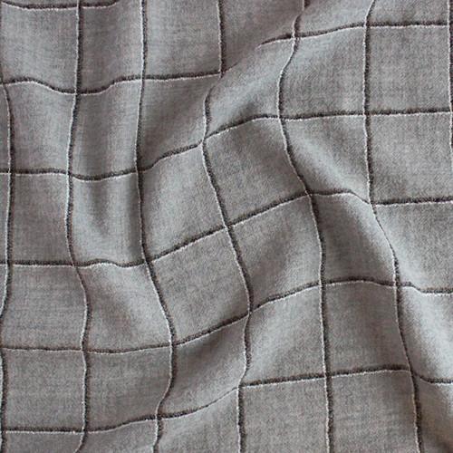 Japanese Deadstock Superfine Check Wool - Grey/Multi    Blackbird Fabrics