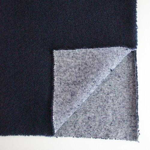Japanese Deadstock Loopy Sweater Knit - Navy   Blackbird Fabrics