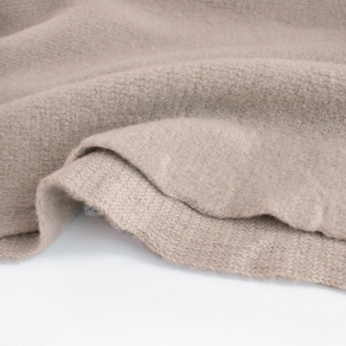Japanese Deadstock Brushed Sweater Knit - Oyster | Blackbird Fabrics