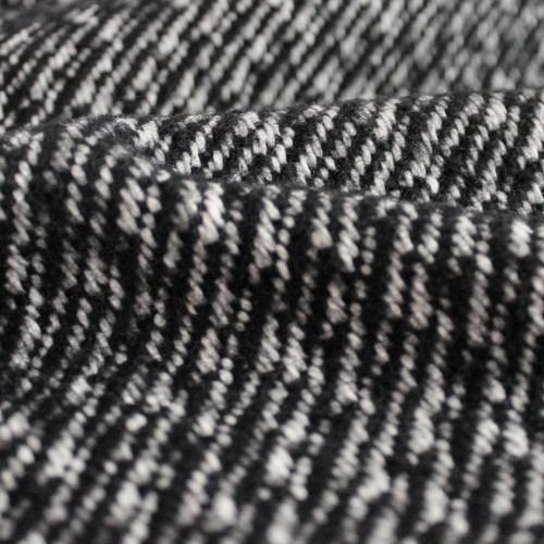 Japanese Deadstock Broken Twill Wool Coating - Black/White   Blackbird Fabrics