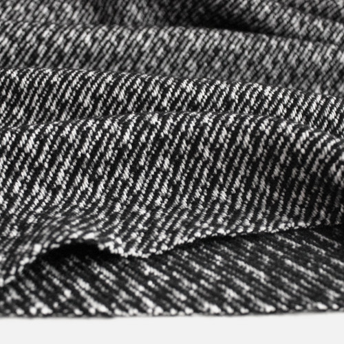 Japanese Deadstock Broken Twill Wool Coating - Black/White | Blackbird Fabrics