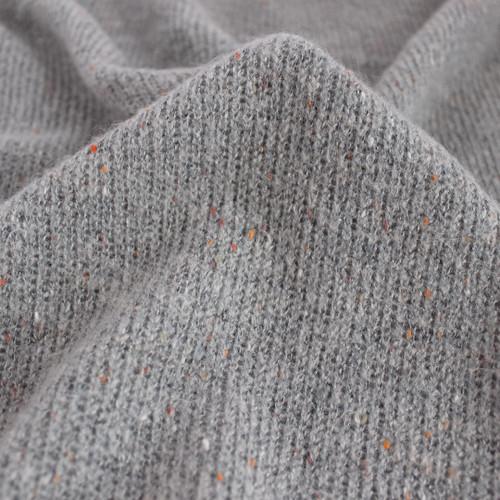 Confetti Acrylic Poly Sweater Knit - Grey | Blackbird Fabrics