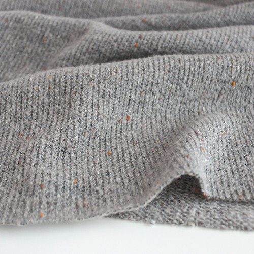 Confetti Acrylic Poly Sweater Knit - Grey - 1/2 meter