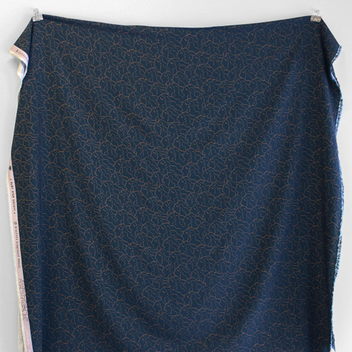 Alma She Printed Rayon- Navy   Blackbird Fabrics