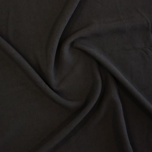 Viscose Crepe - Black   Blackbird Fabrics