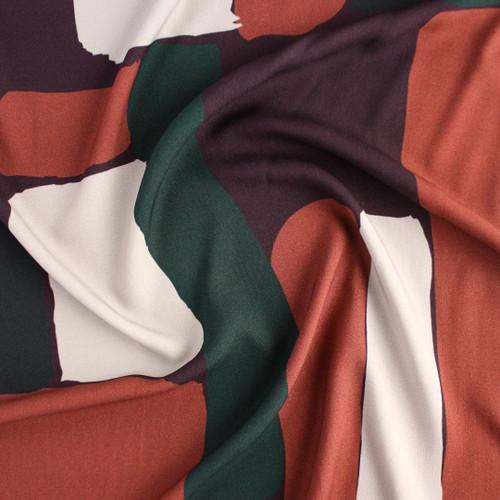 Brick Printed Viscose Challis - Cider | Blackbird Fabrics