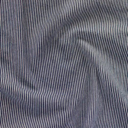 10oz Railroad Striped Denim - Dark Indigo/White   Blackbird Fabrics