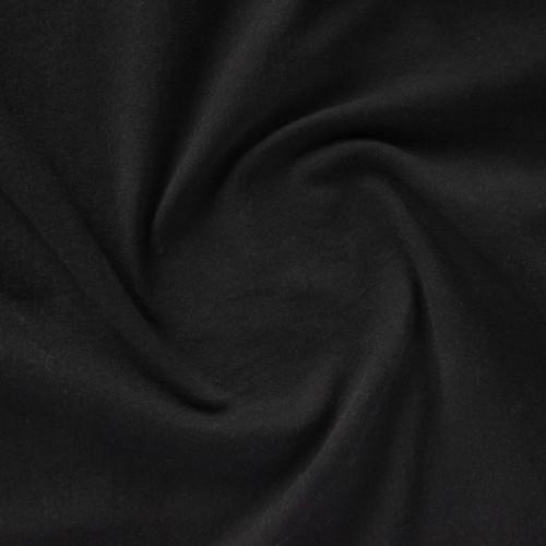 10.5oz Comfort Stretch Denim - True Black   Blackbird Fabrics