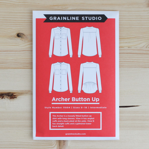 Archer Button Up Shirt by Grainline Studio | Blackbird Fabrics