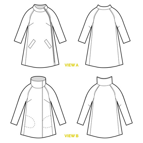 Clare Coat by Closet Case Patterns | Blackbird Fabrics