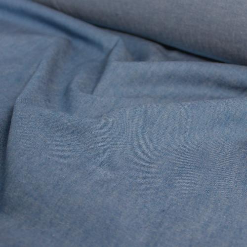 4.8oz Cotton Denim Shirting - Light Wash | Blackbird Fabrics