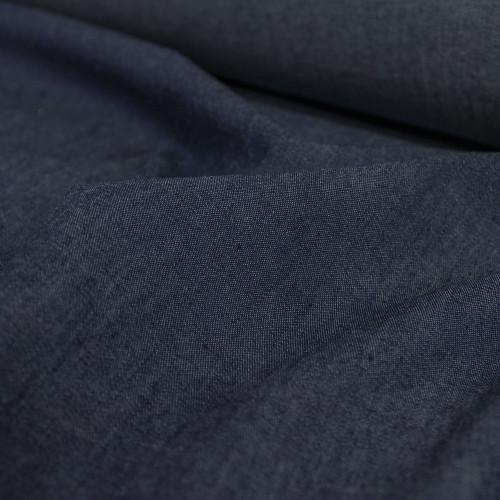 4.8oz Cotton Denim Shirting - Dark Wash | Blackbird Fabrics