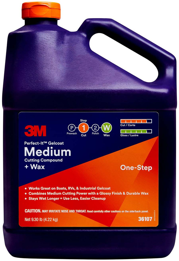 3m, 36107, marine cutting compound, polishes and compounds