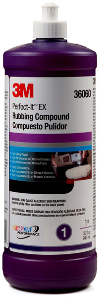 3m, 36060, perfect it, ex rubbing compound, polishes and compounds
