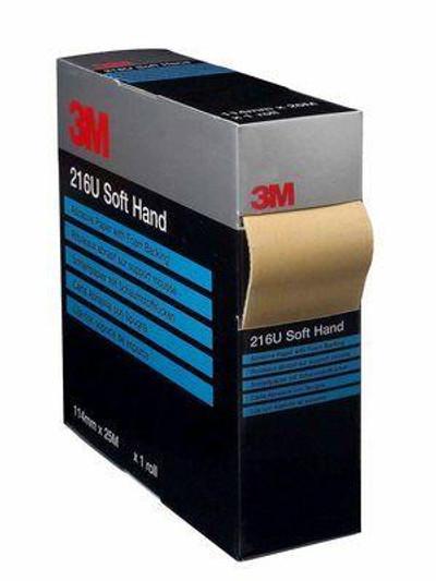 3m, 216u, soft hand roll, 144mm, 25m, sanding, abrasive