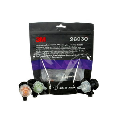 3M 26830 Performance Pressure HVLP Atomising Head variety pack