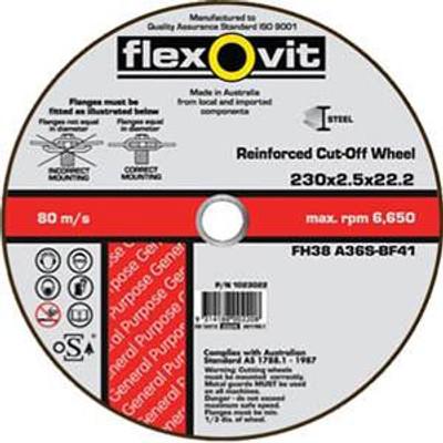 230x2.5x22.23mm METAL  CUT OFF WHEELS (1023022)