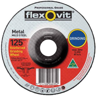 125x6.8x22.23mm FLEXOVIT METAL GRINDING WHEEL
