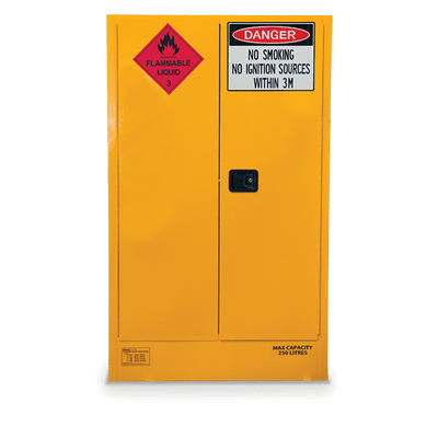 250L FLAMMABLE GOODS SAFETY CABINET 11.5X52X185
