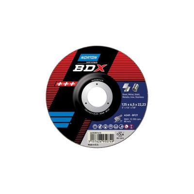 """NORTON 5"""" BDX METAL CUT OFF WHEEL - 125mm x 1.0mm x 22.23mm"""
