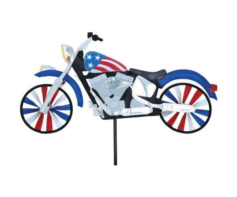 """22"""" Patriotic Motorcycle Spinner"""