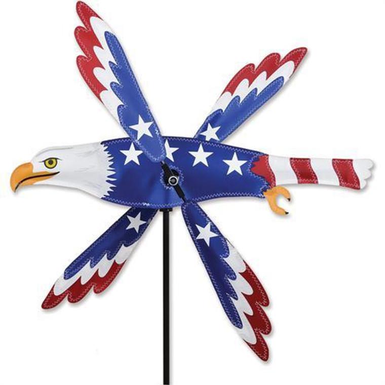 "25"" Patriotic Eagle Whirligig"