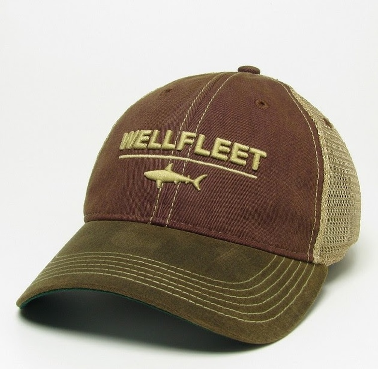 Waxed Cotton Shark Divide Hat