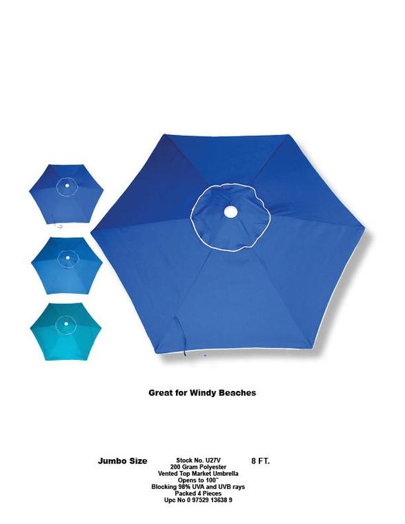 Vented Top Market Umbrella 8ft