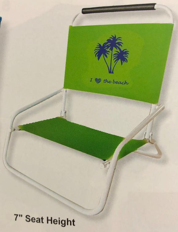 Steel Beach Chair 1 Position