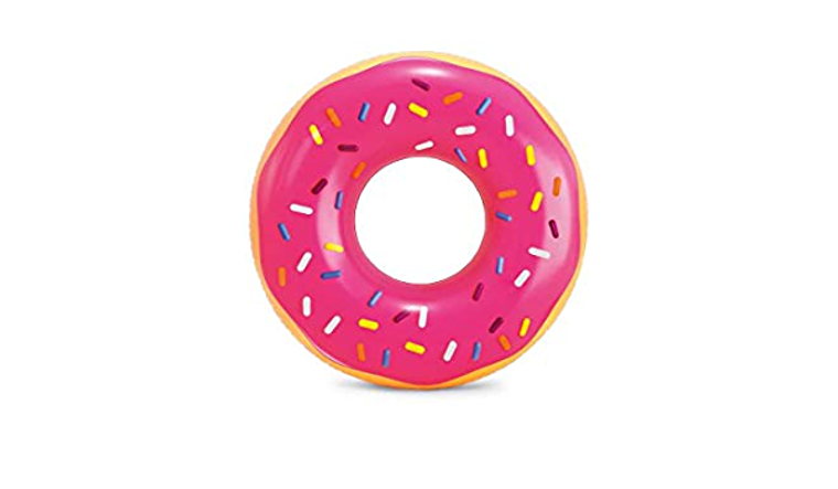 Pink Frosted Donut Tube Marconi's Beach Outfitters