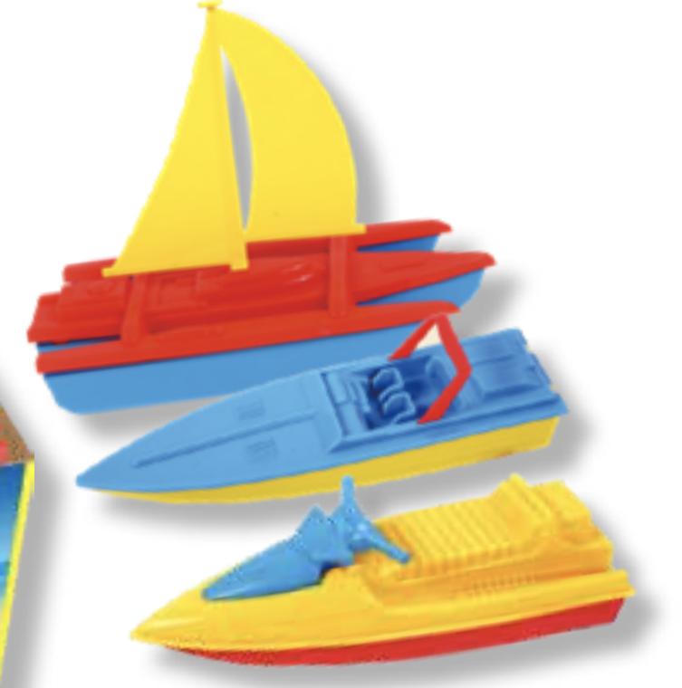 Assorted Plastic Boats