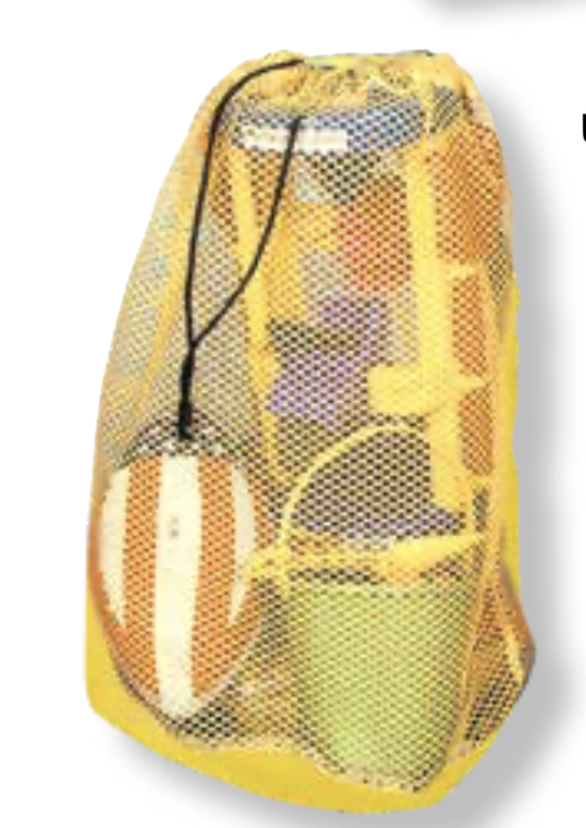 Mesh Beach Bag w/ Draw String
