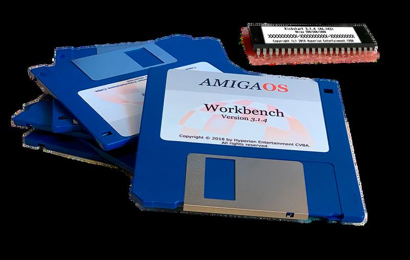 Amiga OS3.1.4 Kickstart ROM's & Floppy's for: Amiga A1200