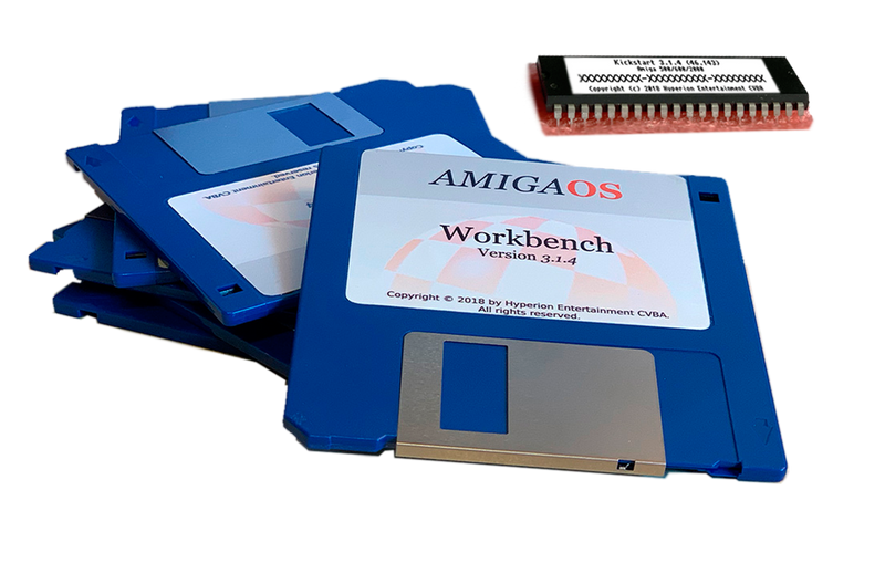 Amiga OS3.1.4 Kickstart ROMs & Floppy's for: Amiga A4000 Tower