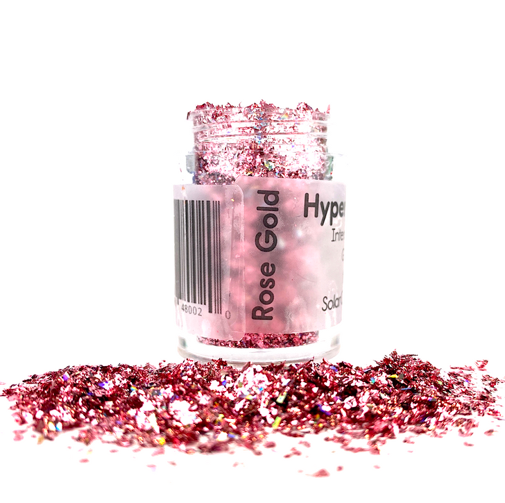 Hyper Holo™ Flakes - Rose Gold - Pink Intense Holographic Flakes