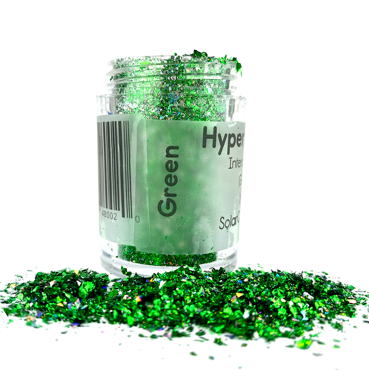Hyper Holo™ Flakes - Green - Intense Holographic Flakes