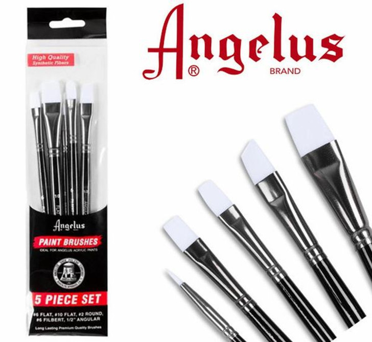 Angelus paint brushes, paint brushes to apply pigments