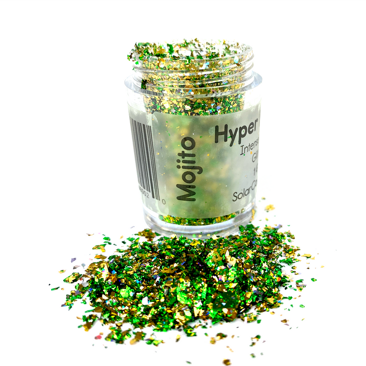 Hyper Holo™ Flakes - Mojito - Green & Gold Hyper Intensive Holographic Flakes