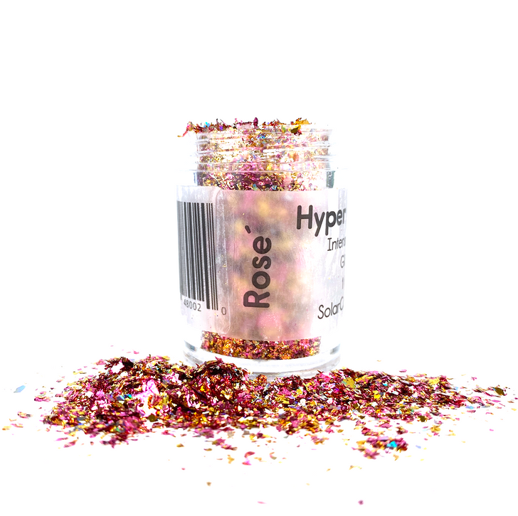 Hyper Holo™ Flakes - Rosé - Pink & Gold Intense Holographic Flakes