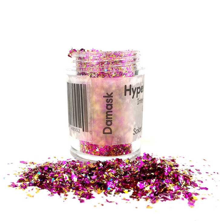 Hyper Holo™ Flakes - Damask - Magenta & Gold Intense Holographic Flakes