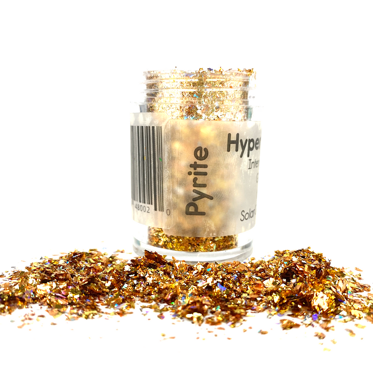 Hyper Holo™ Flakes - Pyrite - Gold Intense Holographic Flakes