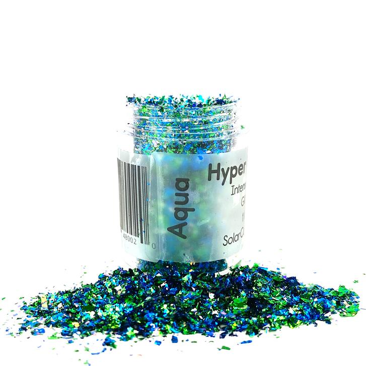 Hyper Holo™ Flakes - Aqua - Blue & Green Intense Holographic Flakes