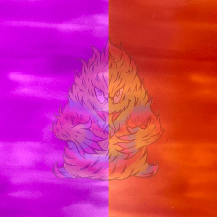 SolarColorDust® Vivid Color Series - Purple to Burnt Orange -  UV Sunlight Color Changing Photochromic Pigment
