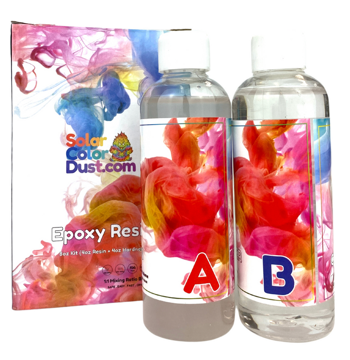 SolarColorDust.com 2 Part Epoxy Resin for Tumblers, Resin Pouring, Pen Turning, Molds, and More
