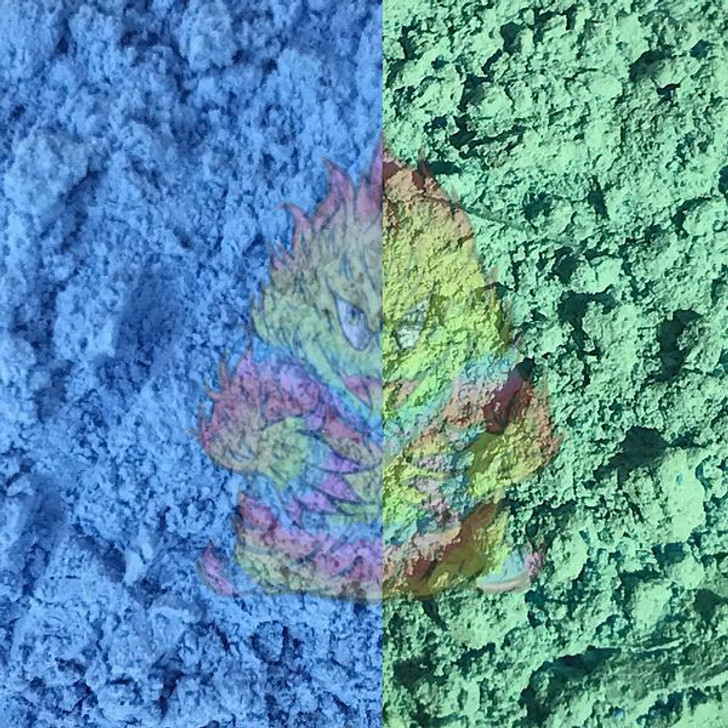 SolarColorDust® - Blue to Green - Sunlight Sensitive