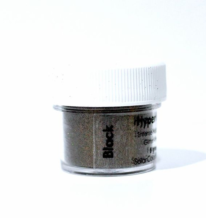 SolarColorDust.com Hyper Holo® Intense Holographic Glitter-Powder - Black - Holographic Powder for Resin, Tumblers, Nail Art, and More!