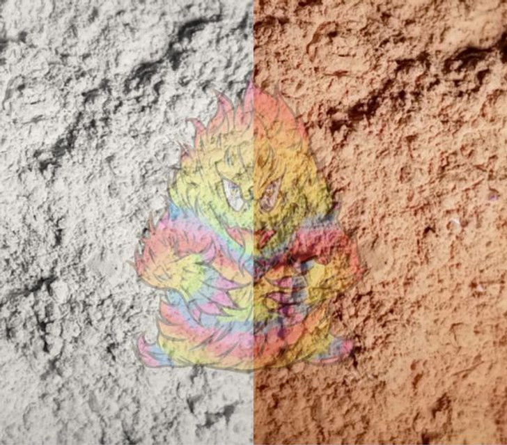 SolarColorDust® - White to Clay - Sunlight Sensitive
