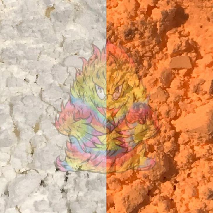SolarColorDust® - White to Orange - Sunlight Sensitive