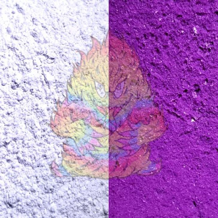 SolarColorDust® - White to Purple - Sunlight Sensitive